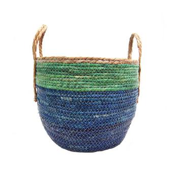 Woven Basket - Summertime -38x38x33cm