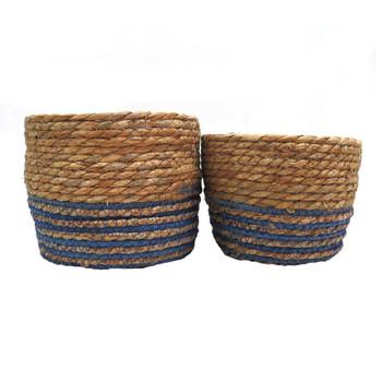 Woven Basket - The Blues