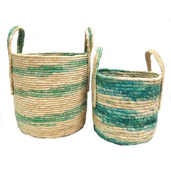 Woven Basket -Peridot