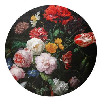 Chenille Round Rug 120cm - Rijks Museum / Peonies