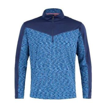 Men's Champ Space Dye Plain Half Zip Pullover / Navy