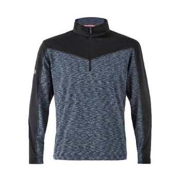 Men's Champ Space Dye Plain Half Zip Pullover Black
