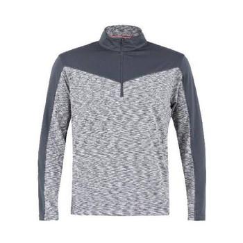 Men's Champ Space Dye Plain Half Zip Pullover Grey