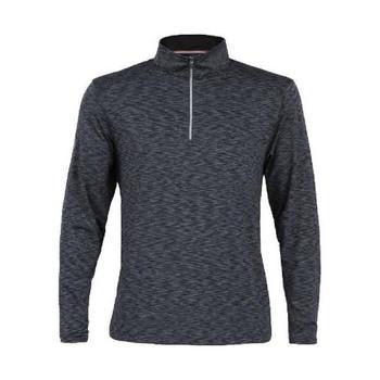 Men's Swift Space Dye Half Zip Pullover Black