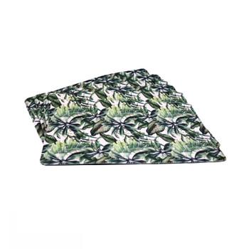 Tropical Leaves Set of 6 PVC and Felt Placemats