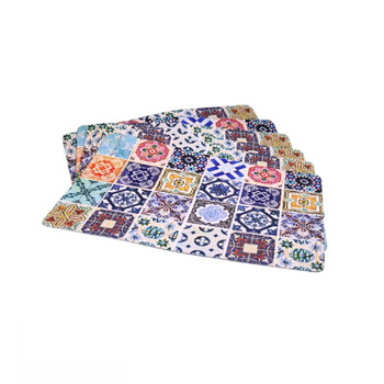 Moroccan Mosaic Set of 6 PVC and Felt Placemats
