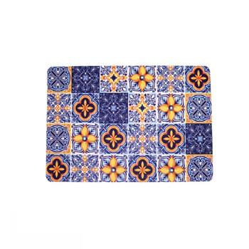 Blue Mosaic Single photo of design. Colors: Dark Blue, Dark Yellow, Light Blue, White. Mosaic tile design
