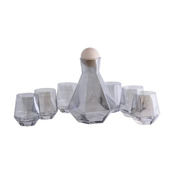 Smoked Glass Drink Set - 7 Piece