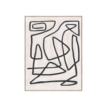 Maze Art In Noir (100x140x4cm)