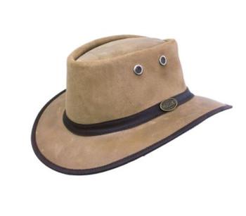Waxed Suede Hat - Huntsman in Old Khaki