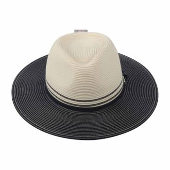 Bella Ivory/Navy 58cm Hat