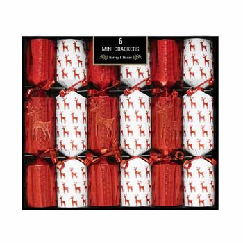Mini Red Reindeer Crackers Pack Of 6
