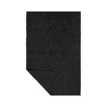 Slate Color Victorian design bathmat - 100% cotton machine washable