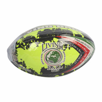 Living Ball - Rugby ball - Neon (Size 4)