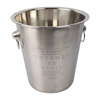 Handled Wine Bucket Etched