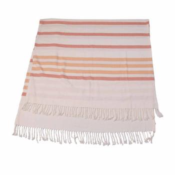 Orange Striped Turkish Towel