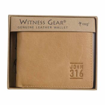 Leather Wallet John 3:16