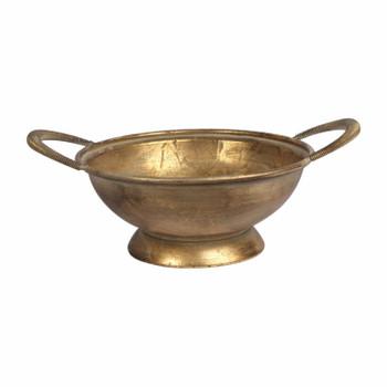 Medium Metal Bowl with handles