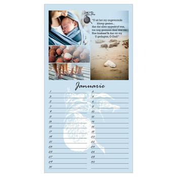Afrikaans Birthday Calendar (21x40cm)