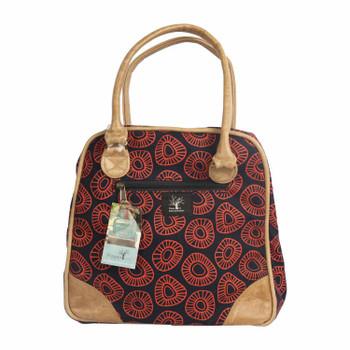 Handbag Navy & Leather