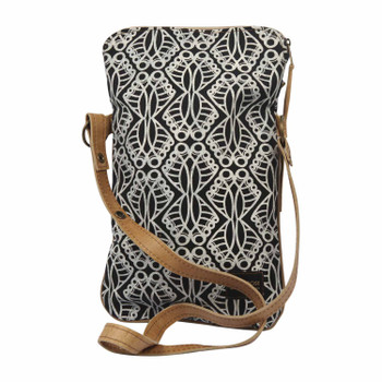 Slingbag Black Grey pattern