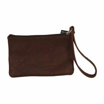 Essy G Prosper Leather Sling Purse Brown