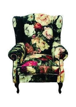 Wingback Chair in Natalia Burnished