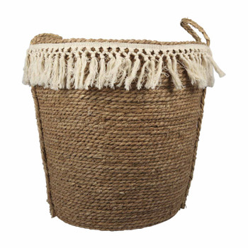 Two-Toned Weaved Basket - Large
