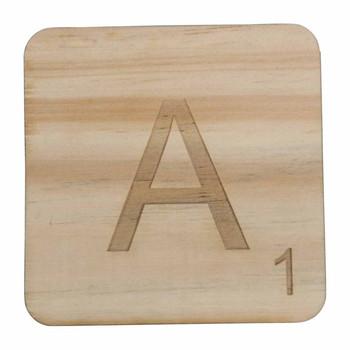 Wooden Scrabble Letter A