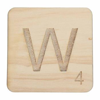 Wooden Scrabble Letter W