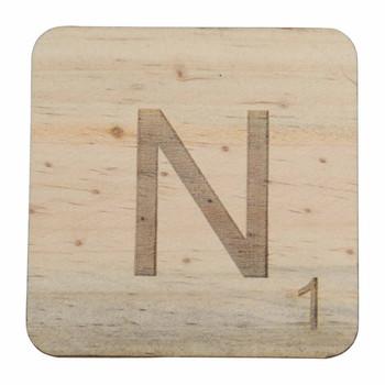 Wooden Scrabble Letter N