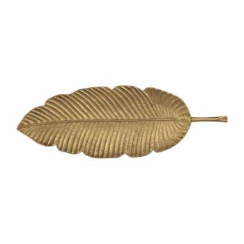 Large Metal Platter - Golden Leaf