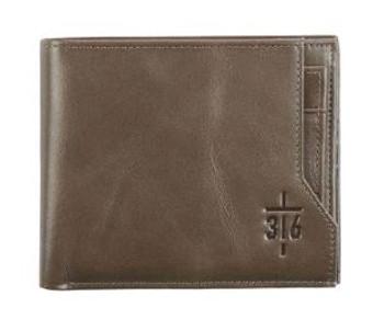 Leather Wallet- 3:6 Cross