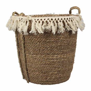 Two-Toned Weaved Basket - Medium