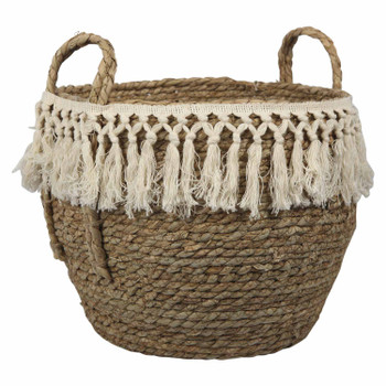 Two-Tone Weaved Basket Medium