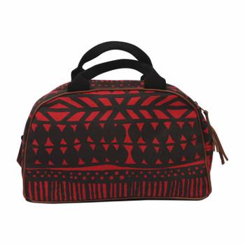 Ladies Batik Charc/Red BAg