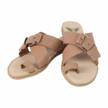 Iced Chilli Leather Sandal - Bone Crust