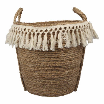 Two-Toned Weaved Basket Small