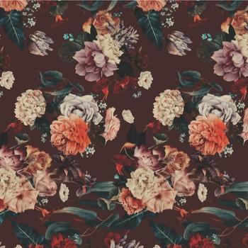 PVC Table Runner - Dark Floral