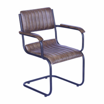 Leather Chair with Iron Base (53x57x80cm)