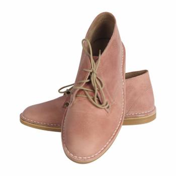 Ladies Chukka Boot Matt Pink