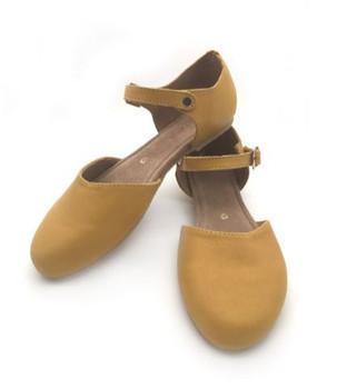 Ladies Court Shoe Mustard