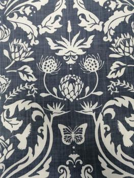 Tablecloth Protea Damask Navy 2.8x1.4m