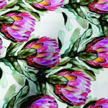 Tablecloth 2.8x1.4m - Protea White