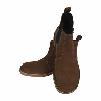 Leather Suede Vellie Boots with Crepe Sole