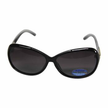Black & Smoke Jackie O sunglasses with gold inlay