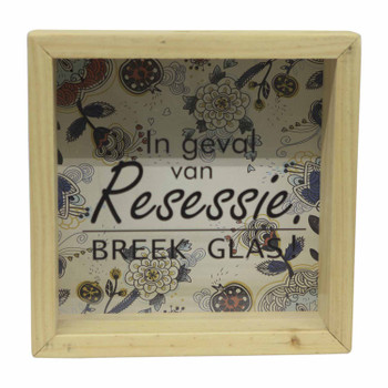 Wooden Money Box with Insert - Resessie