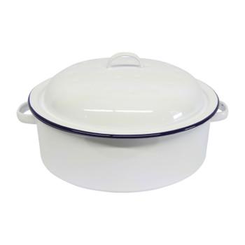 Roaster Enamel Round 26cm (blue & white)