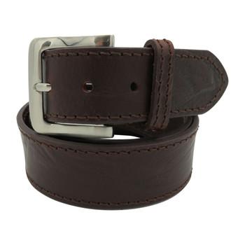 Mens Italian Mombassa Brown Belt 40mm