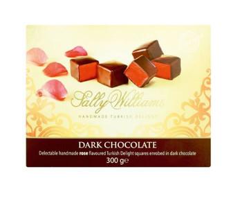 Sally Williams Dark Chocolate 300g with Rose Turkish Delight